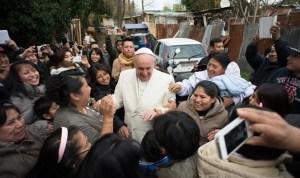 Папа-Франциск в лагере мигрантов