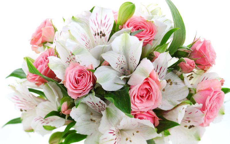 Поздравления с букетами цветов 876