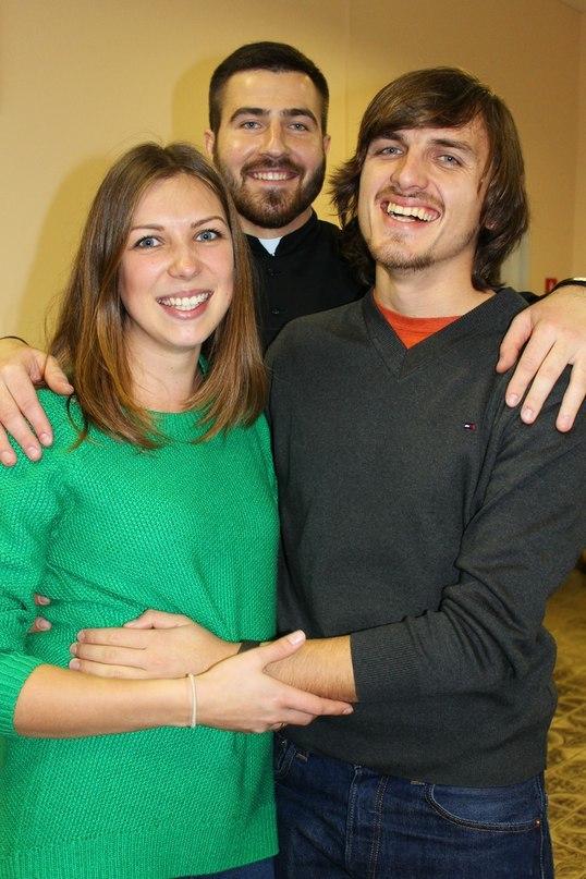 Анджэй разам з Арцёмам і Мартай